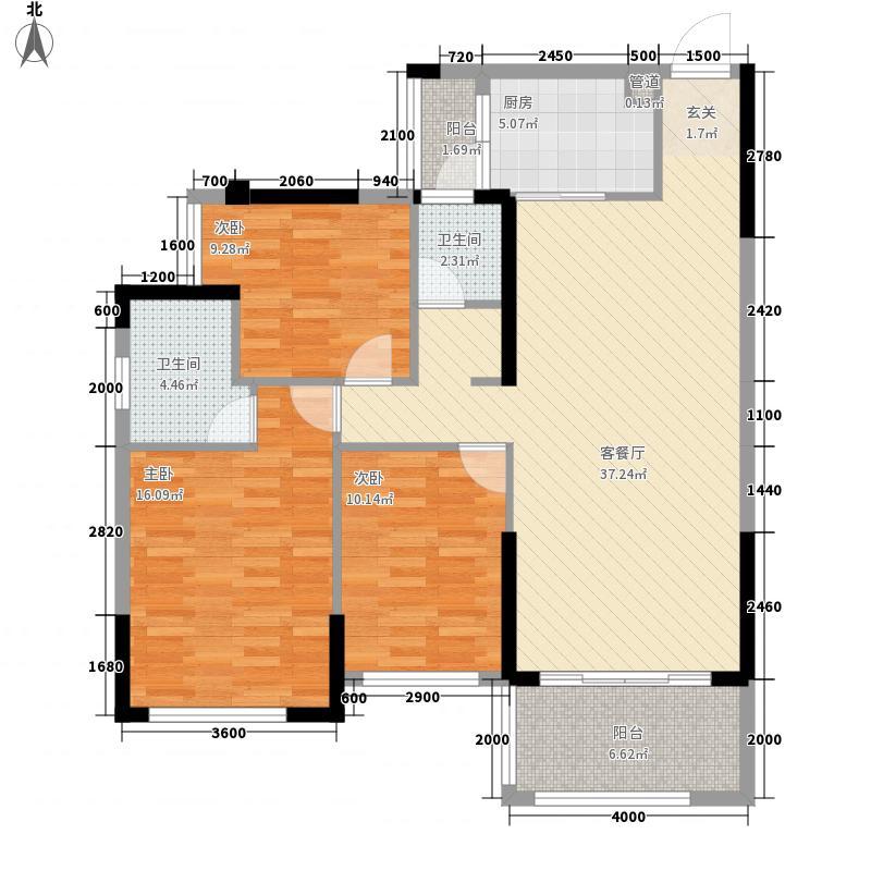 盛世名城312116.59㎡一期3#1、2单元02/03116583室户型3室2厅2卫