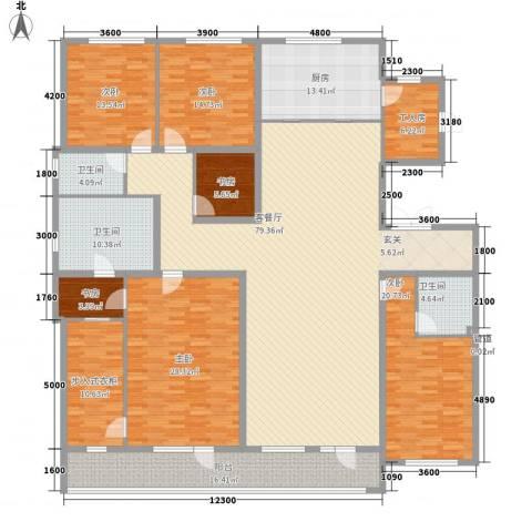 万晟清华园6室1厅3卫1厨320.00㎡户型图