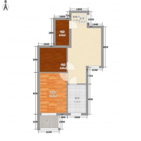 文鼎轩3室1厅0卫1厨63.00㎡户型图