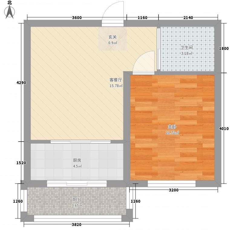隆达丽景世纪城5.00㎡B1户型1室1厅1卫
