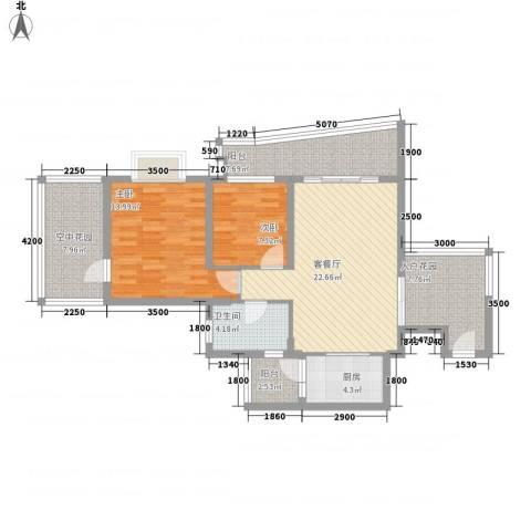 正和中州2室1厅1卫1厨78.39㎡户型图