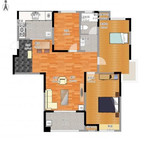 琥珀新天地1室1厅1卫1厨137.00㎡户型图