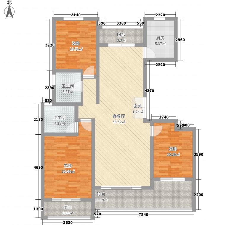 保辉香景园155.00㎡户型3室