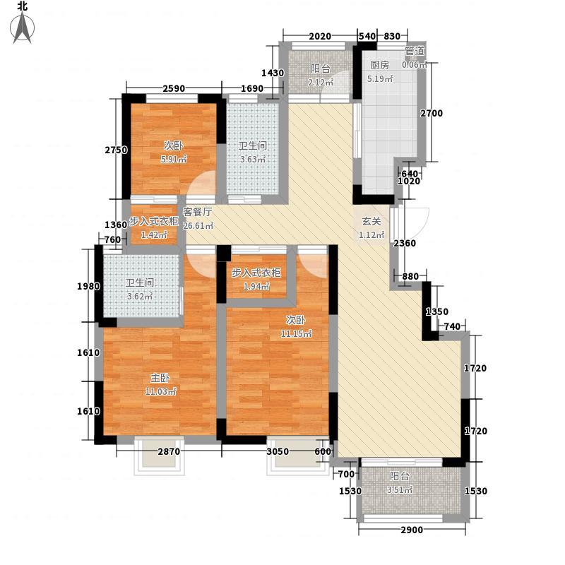 庐阳佳苑D组团114.80㎡31#楼0304户型3室2厅2卫1厨
