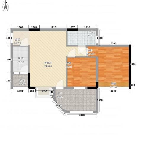 锦惠大厦2室1厅1卫1厨133.00㎡户型图