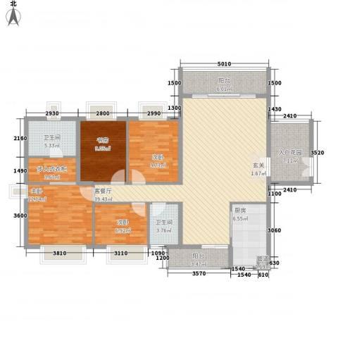 文华楼4室1厅2卫1厨128.87㎡户型图