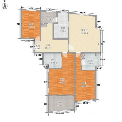 香梅花园五期3室1厅2卫1厨200.00㎡户型图