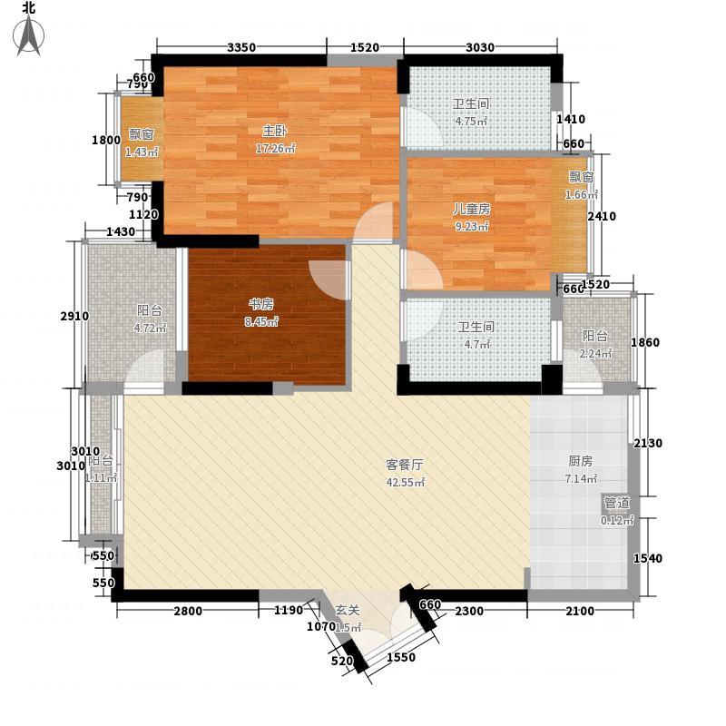 帝景园212.00㎡户型3室