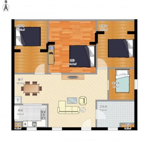 双大・山湖湾1室1厅1卫1厨105.00㎡户型图