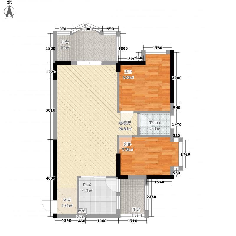 安泰大厦7.71㎡B栋06户型2室2厅