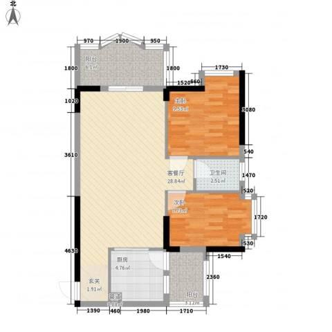 安泰大厦2室1厅1卫1厨62.66㎡户型图
