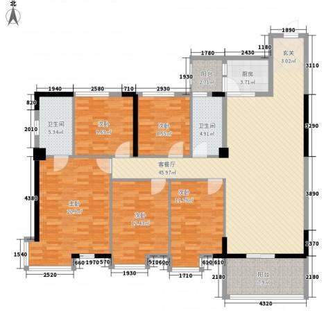 安泰大厦5室1厅2卫1厨165.00㎡户型图