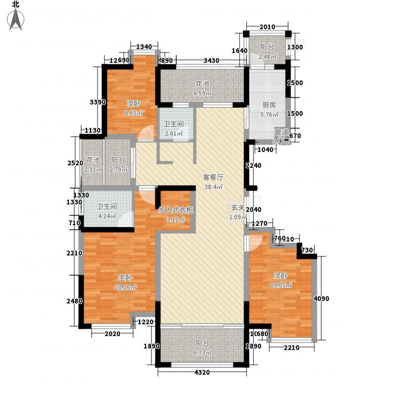 昌建・誉峰7142.32㎡79号楼王户型3室2厅2卫1厨