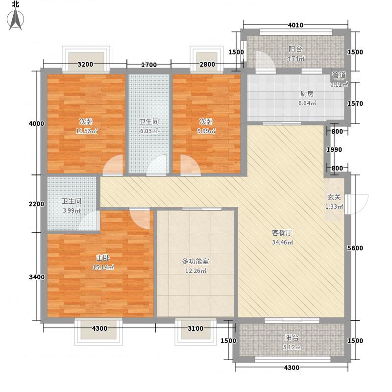 南湖商业广场三期7146.22㎡C7户型4室2厅2卫1厨