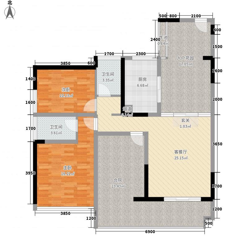 花样年别样城117.30㎡24/25栋四至三十三层05户型3室2厅2卫1厨