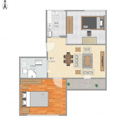 永乐小区2室1厅1卫1厨91.00㎡户型图