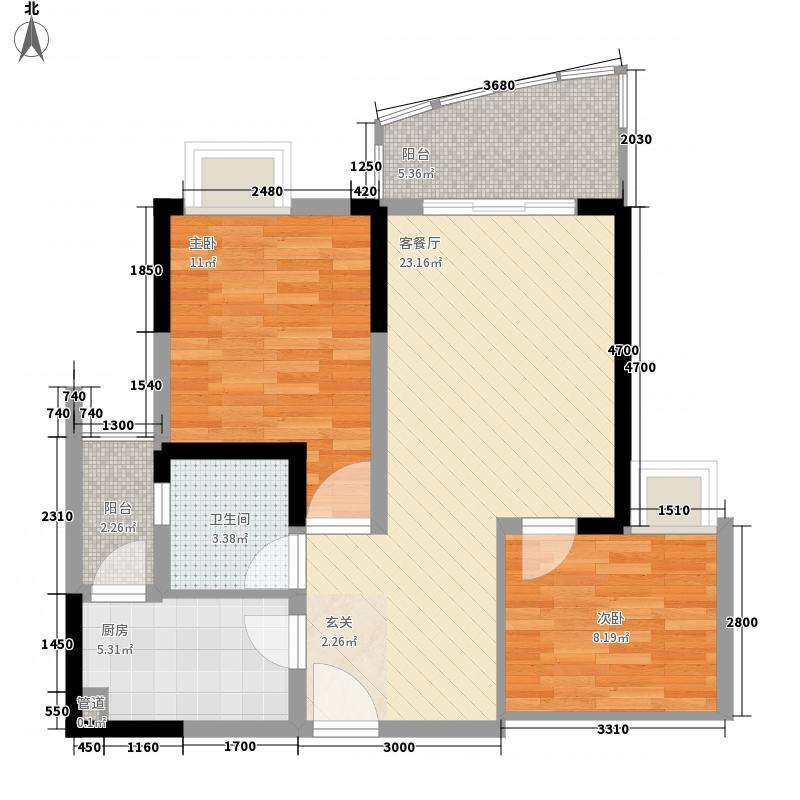 团安新村户型2室