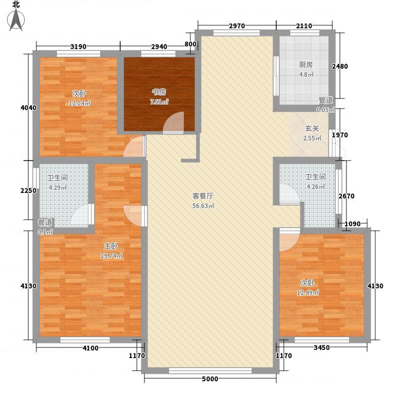 中建苏香台壹号172.00㎡1#A户型4室2厅2卫1厨