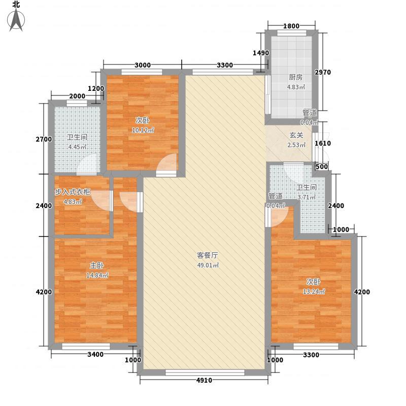 中建苏香台壹号145.00㎡2#A户型3室2厅2卫1厨