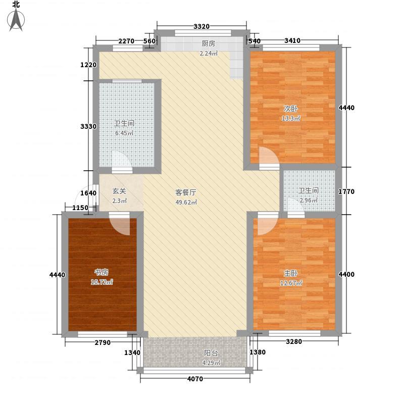 丽景馨城135.00㎡多层J户型3室2厅2卫1厨