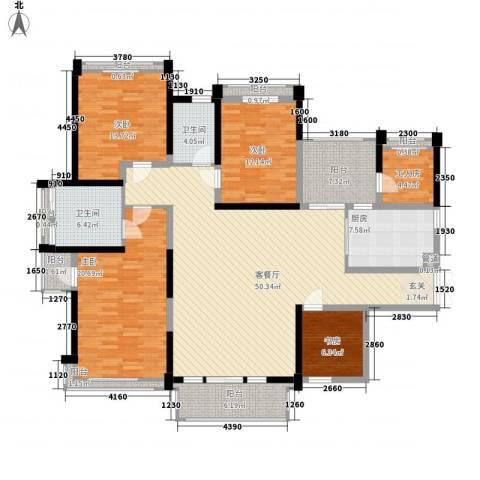 菩提园4室1厅2卫1厨144.56㎡户型图