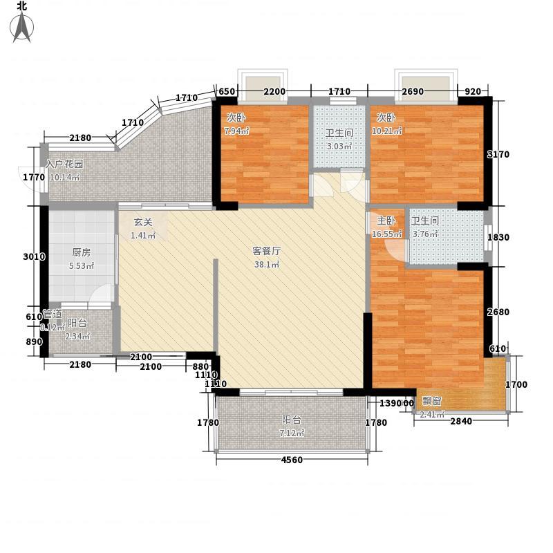 惠东金河湾花园126.62㎡A9栋02/05户型3室2厅2卫