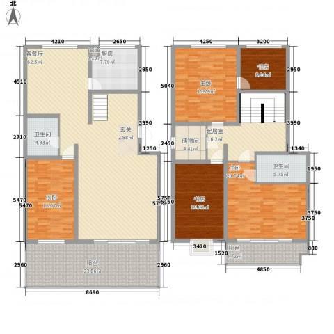 华隆小区北区5室1厅2卫1厨296.00㎡户型图