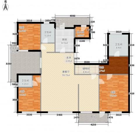 北京公园4室1厅3卫1厨209.00㎡户型图