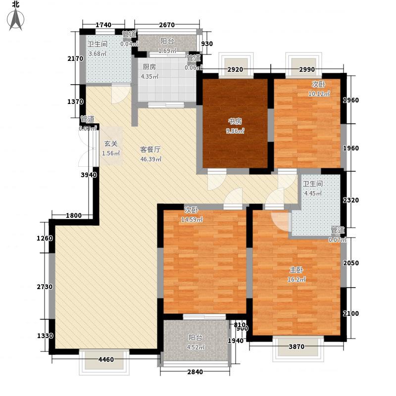 万家灯火153.67㎡万家灯火户型图5#4-15层2户型4室2厅2卫1厨户型4室2厅2卫1厨
