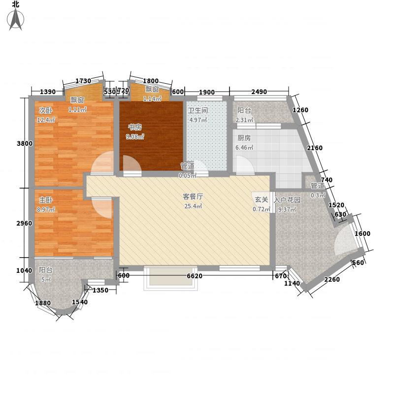 秦皇国际公寓D户型2室1厅1卫