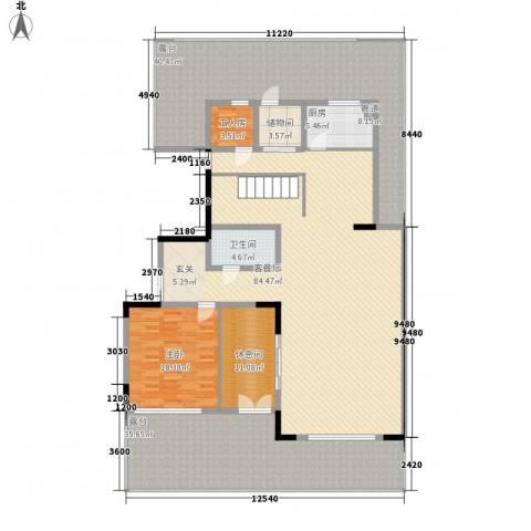 万城华府1室1厅1卫1厨286.00㎡户型图