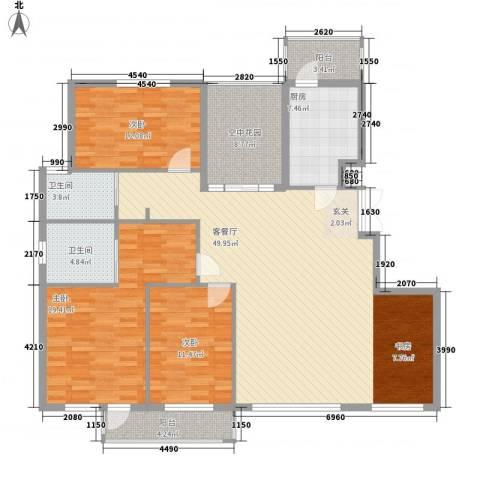 北京公园3室1厅2卫1厨149.00㎡户型图