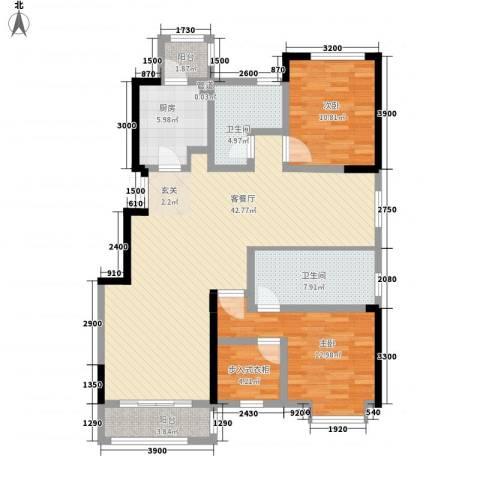 �林2室1厅2卫1厨138.00㎡户型图