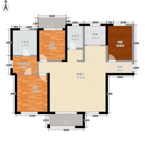 红星海青屿蓝3室1厅2卫1厨163.00㎡户型图