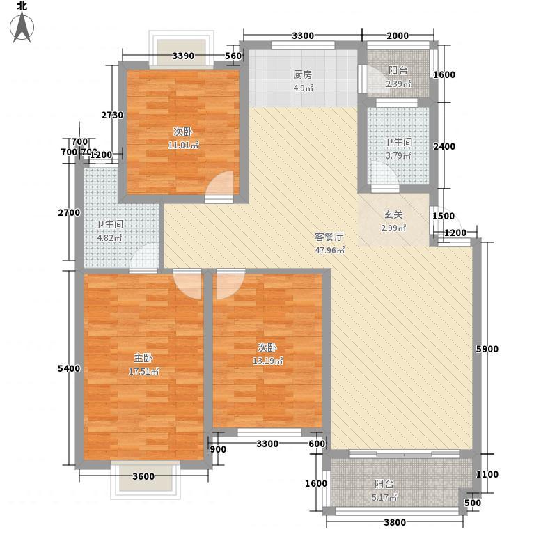 同泰花园同泰花园户型图[5)KB_6B6DOHHPY5]WRF2073室户型3室