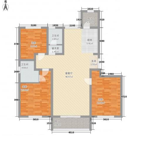 润鑫・公园壹号3室2厅2卫0厨146.00㎡户型图