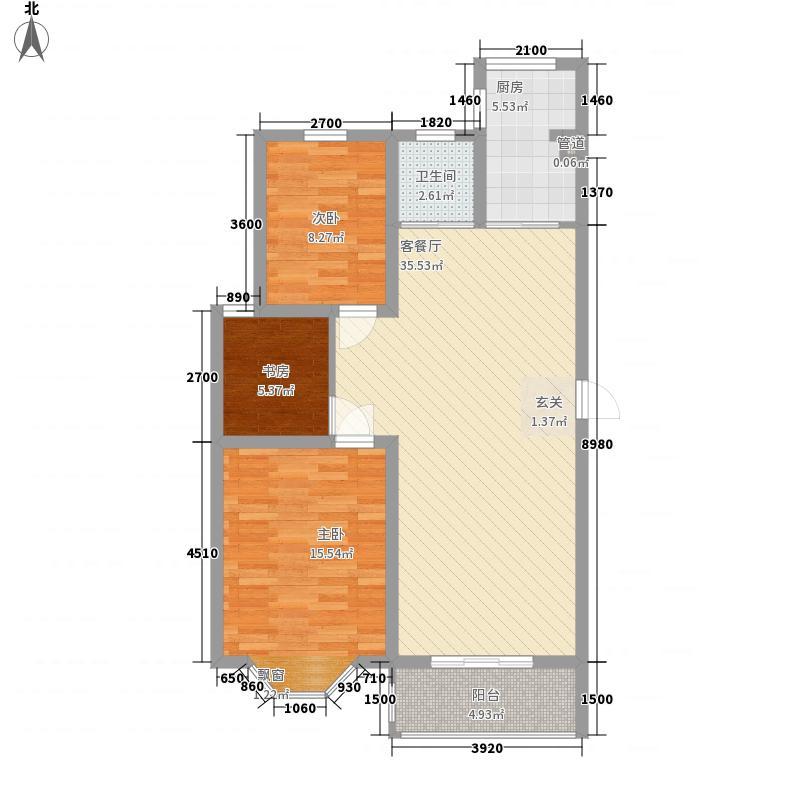 三江13.00㎡小区户型3室