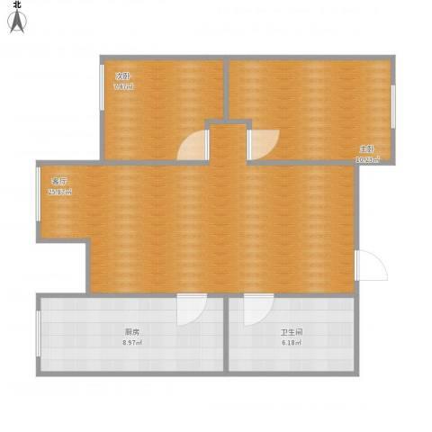 丽阳四季2室1厅1卫1厨79.00㎡户型图