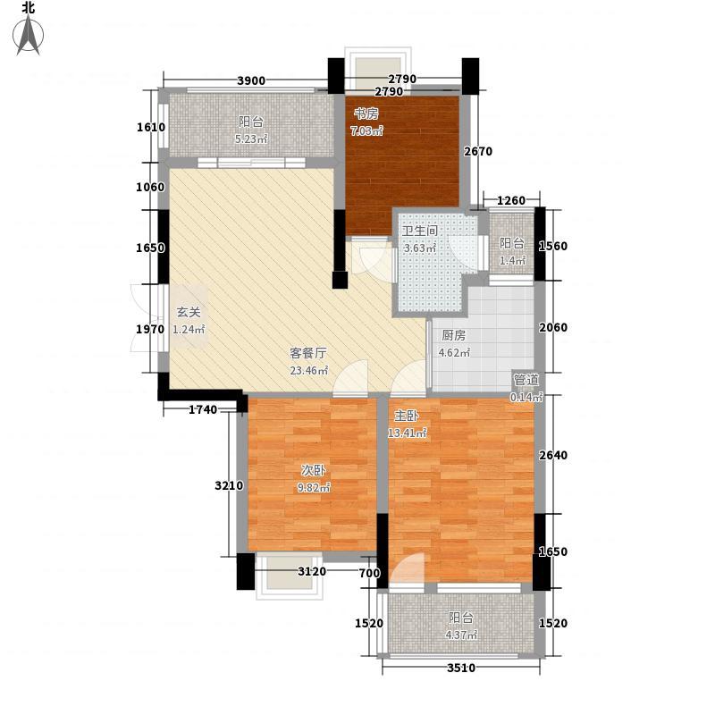 溪东社区21户型3室2厅2卫1厨