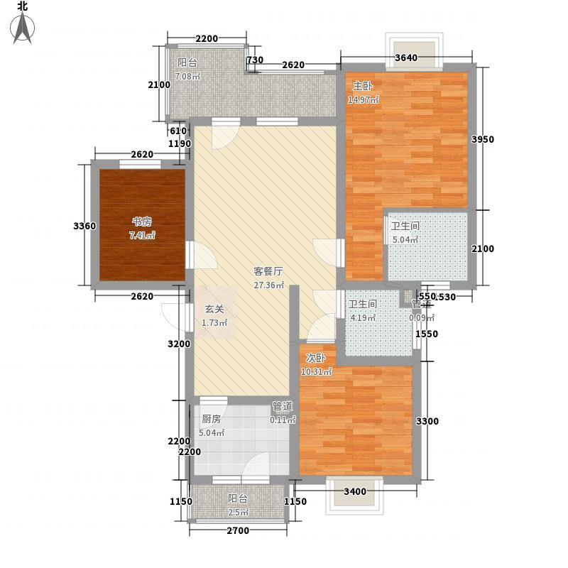 佳祥花园bh_202_3302户型3室2厅2卫1厨