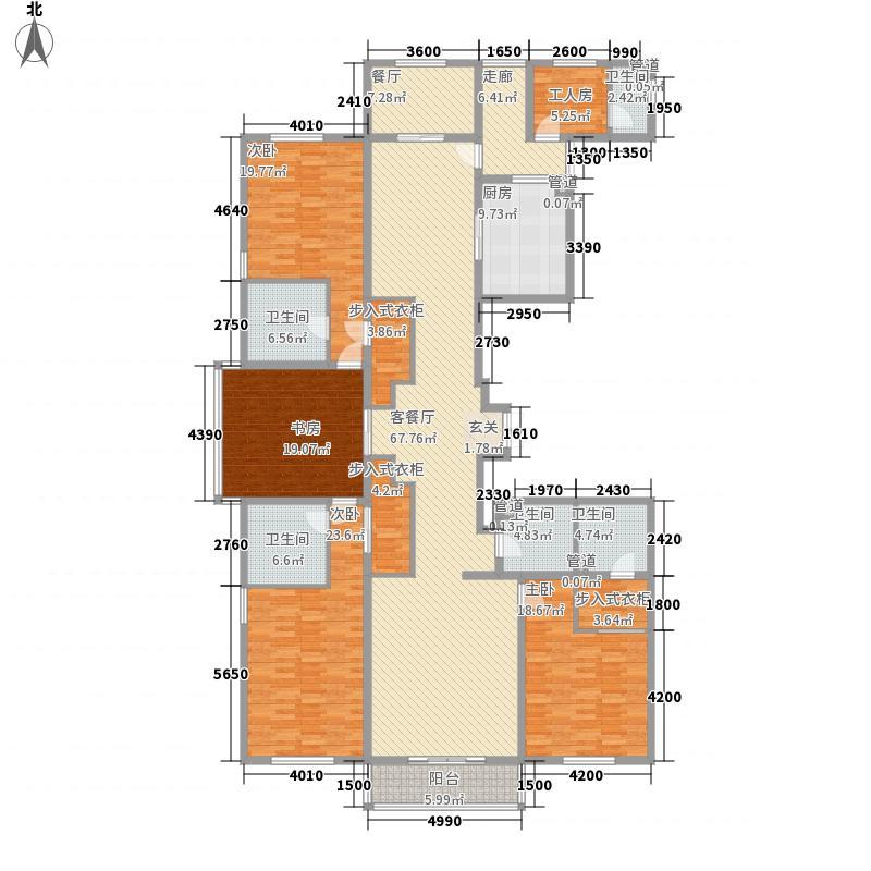 都市广场28.65㎡3#01户型4室2厅3卫1厨
