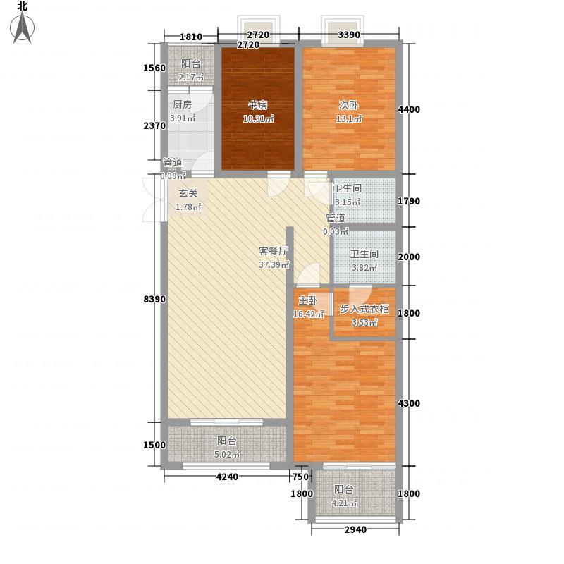 都市广场15.26㎡1#03户型3室2厅2卫1厨