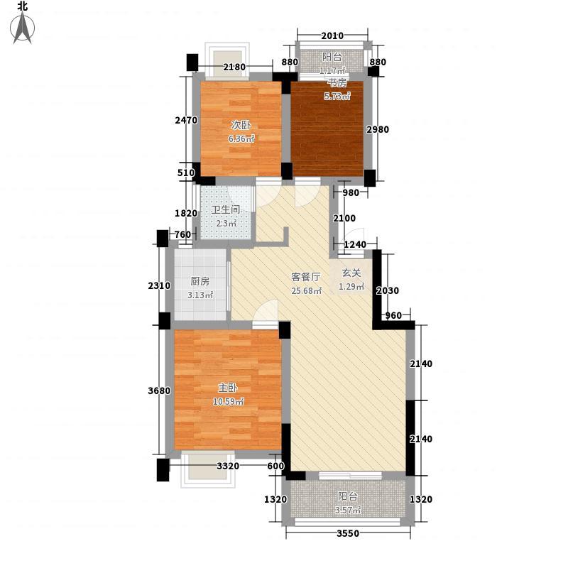 栈塘住宅86.00㎡小区户型3室