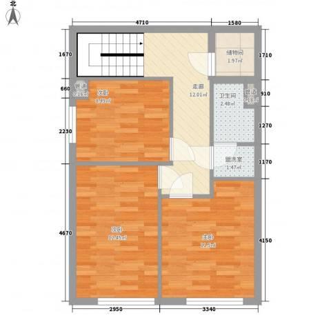 圣罗伦斯3室1厅1卫0厨58.00㎡户型图