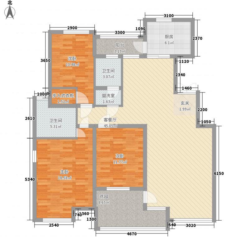 曲阜万佳广场141.60㎡A户型3室2厅2卫1厨