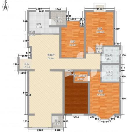 米拉晶典4室1厅2卫1厨183.00㎡户型图