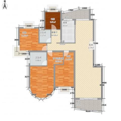 华丽家族花园4室1厅2卫1厨156.00㎡户型图