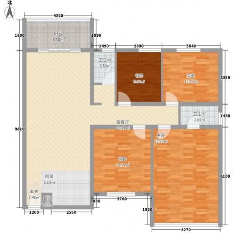 裕华公寓4室1厅2卫0厨162.00㎡户型图