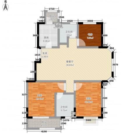 �林3室1厅2卫1厨141.00㎡户型图