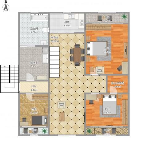 丽景家园3室1厅1卫1厨125.00㎡户型图